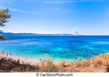 croatia, europe., brac, place., 島, 美しい