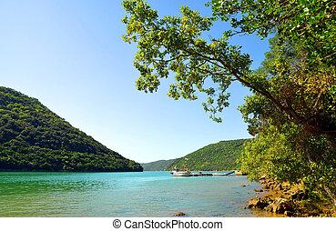 croatia., fjord, limski, istria.