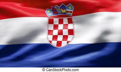 CROATIA flag in slow motion