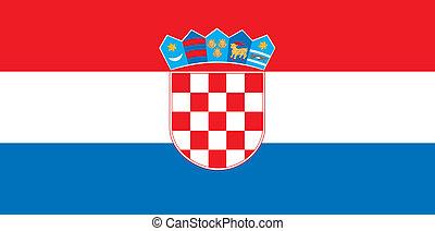 Croatia flag - Various vector flags, state symbols, emblems...