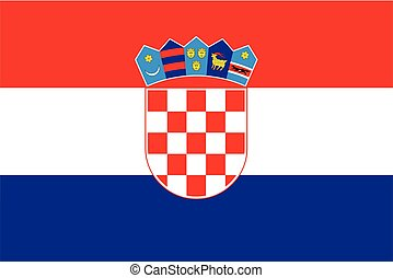 Croatia Flag. Vector Format