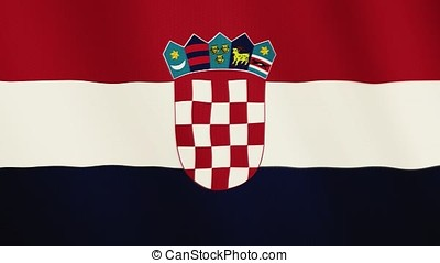 Croatia flag waving animation. Full Screen. Symbol of the country.