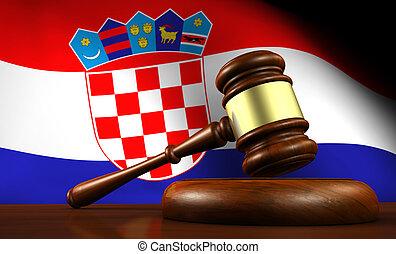 Croatia Law Legal System Concept