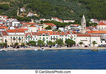 Makarska - Croatia - Makarska, town in Dalmatia. Old town ...
