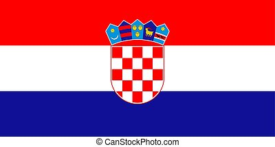Croatia national flag. Vector illustration. Zagreb