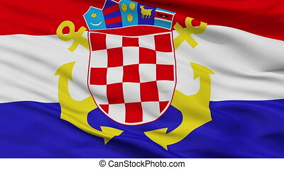 Croatia Naval Ensign Flag Closeup Seamless Loop - Naval ...