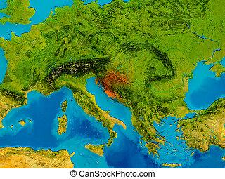 Croatia on physical map