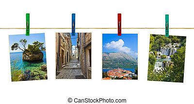 Croatia photography on clothespins