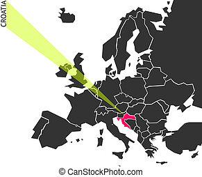 Croatia - political map of Europe