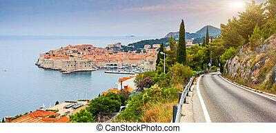 croatia - View on old town of Dubrovnik, Croatia. Balkans,...