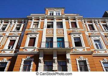 Zadar - Croatia - Zadar in Dalmatia. Old apartment building.