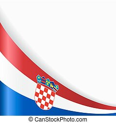 Croatian flag background. Vector illustration. - Croatian...