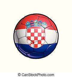 Croatian Flag Football - Soccer Ball