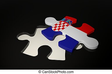 Croatian Flag Puzzle Piece - Flag of Croatia