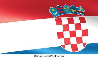Croatian Flag Waving