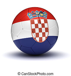 Croatian Football (isolated with clipping path)