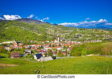 Croatian green region of Zagorje view