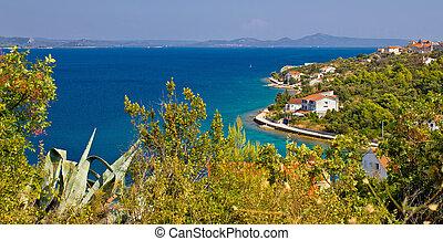 Croatian island Iz panoramic view
