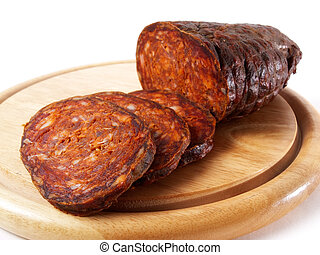 Croatian kulen - Kulen is authentic spicy sausage typical...