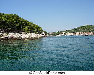 Croatian Mediterranean coast - rocks and sea