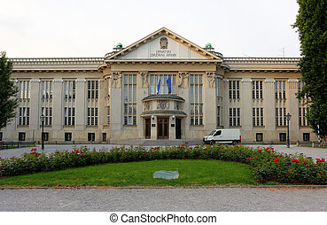 Croatian national state archives building in Zagreb, Croatia