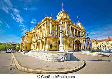 Croatian national theater of Zagreb, Croatia