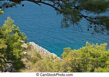 Croatian seascape - Photo of beautiful Adriatic Sea in...
