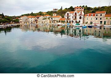 Village of Drvenik on an Drvenik Veliki island in Adriatic Sea