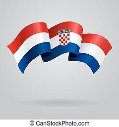 Croatian waving Flag. Vector illustration
