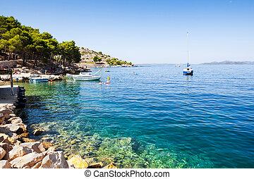 croatia's, adria, segeln, kueste