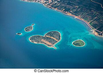 Croatie, aérien, vue