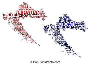 Carte Nuage Croatie.Cliparts Et Illustrations De Mot Croatie Nuage 30