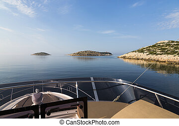 croatie, mer, yacht, luxe, ouverture