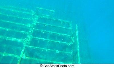 croatie, zavratnica, mer, naufrage, vieux, eau, sous, bateau...