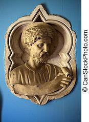 croce, フィレンツェ, バシリカ, -, santa, interior., トスカーナ