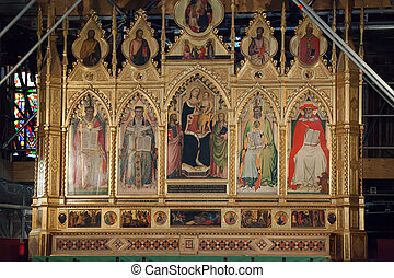 croce, 祭壇, -, santa, 本, フィレンツェ