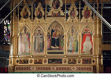 croce, altar, -, santa, principal, florencia
