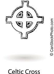 croce celtica, schizzo, 3d