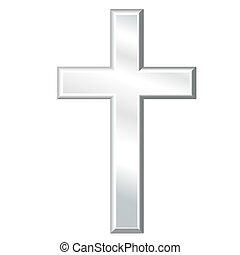 croce, cristiano, argento, crocifisso