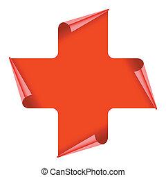 croce, rosso