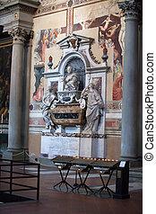 croce., -, santa, ガリレオ, 墓, フィレンツェ, galilei