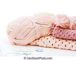 Crochet and yarn in pink - Handmade crafts - pretty crochet...