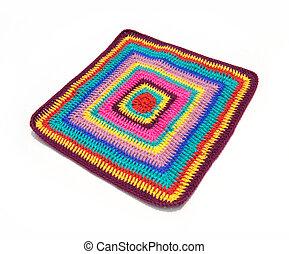 Crochet colorful fabric pattern