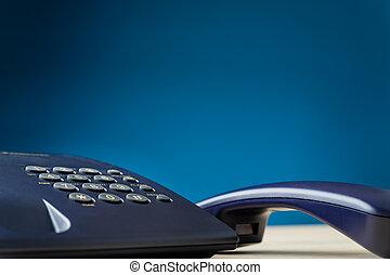 crochet, combiné téléphone, fermé, landline