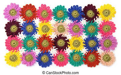 Crochet fabric flowers