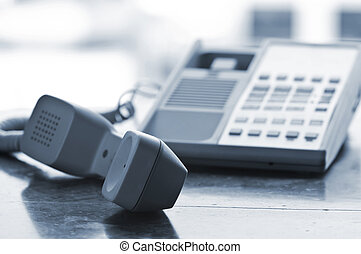 crochet, fermé, téléphone, bureau