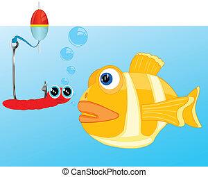 crochet, fish, appât