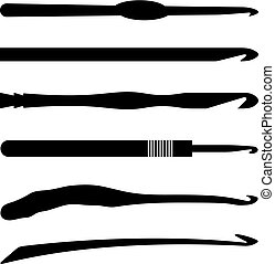 Crochet hooks, shade picture