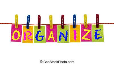crochet, organiser, mot, lessive