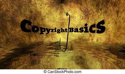 crochet, peche, droit d'auteur, contre, concept, base